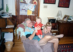 My dad with my two kids in Glenburnie Ontario.
