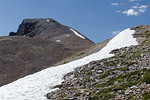 You don?t find a lot of snow in Nevada in July. Most of the state is hot and dry but snow patches persist about 3400 meters.